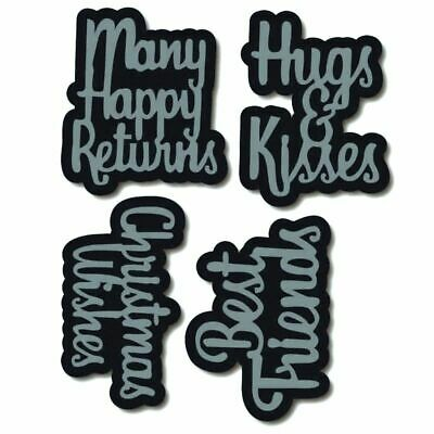 Greeting words Merry Metal Cutting Dies For DIY Scrapbooking Card Craft DecNWUS
