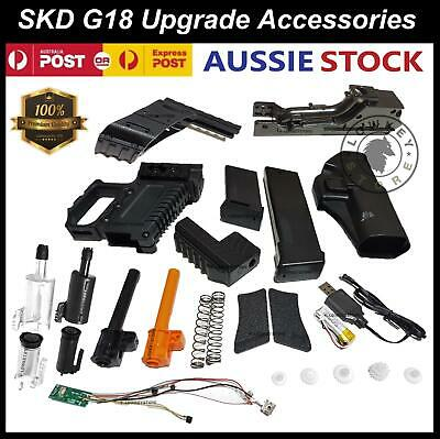SKD G18 Upgrade Parts Spring Hopup Magazine Battery Glock 18 Gel Blaster 7-8mm