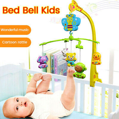 Baby Musical Lullaby Toy Crib Mobile Bed Cot Stars Dream Light Flash Nusery Gift