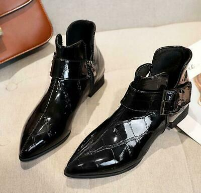 Rivets Mens Low Top Pointed Toe Slip On Patent Leather Wedding Party Shoes Ths01