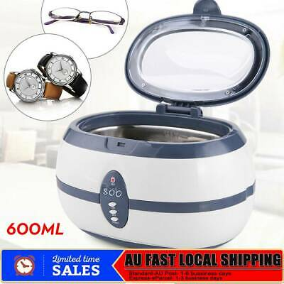 600ml Digital Ultrasonic Cleaner Jewellery Watch Cleaning Machine High Quality