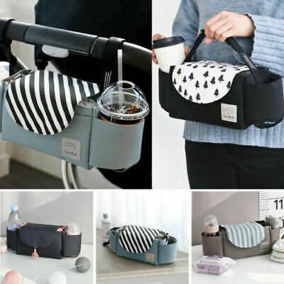 Baby Stroller Organizer Mummy Bag Waterproof Pram Buggy Pushchair Bottle Holder