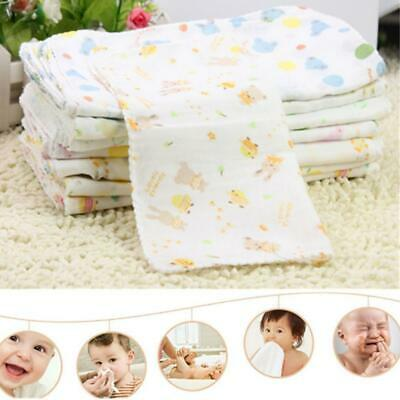 10Pcs Baby Gauze Muslin Square 100% Cotton Bath Wash Handkerchief Kids Supply