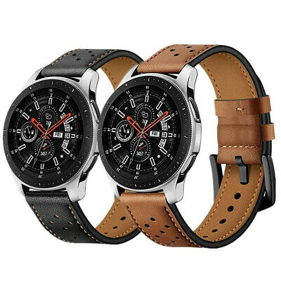 Premium Genuine Leather Watch Band Strap For Samsung Galaxy Watch 46mm 42mm
