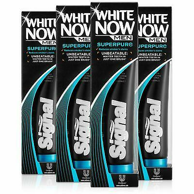 Signal White Now Men Super Pure Toothpaste, Pack of 4
