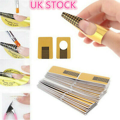 Nail Forms Nail Art Sticker Self Adhesive Extension Guide Acrylic Tips UV Gel