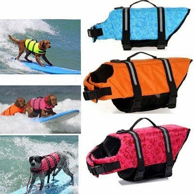 Dog Life Jacket Safty Pet Floating Vest Swimming Preserver Swim Surf Saver Aj