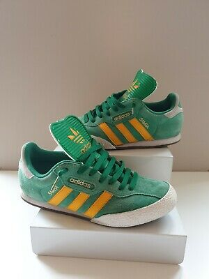where can i buy new release buy good ADIDAS ORIGINALS SAMBA Super Green Yellow Vintage Size Uk 6 ...