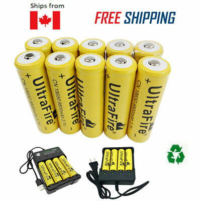 18650 Lithium Rechargeable Battery 9800mAh Batteries 3.7V For Flashlight&Charger