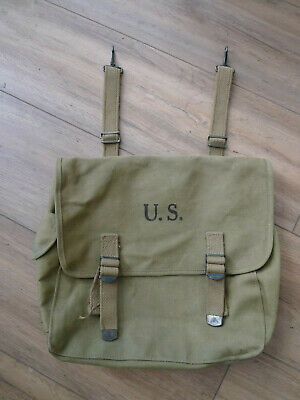 Us Army Ww2 Musette M36 Bag 1942 The Langdon Tent & Awning Co Materiel Original