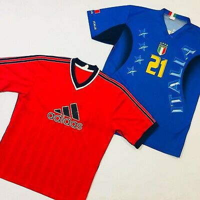 30 x FOOTBALL TOPS & BRANDED SPORT JERSEYS - GRADE A - BULK VINTAGE WHOLESALE