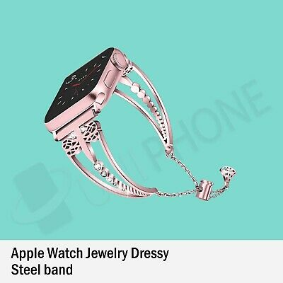 Apple Watch Series 5 4 3 2 Bling Stainless Steel Bracelet bangle Band Strap Lady