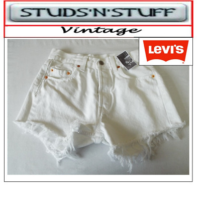 "Levis  Vintage Womens 501'S High Waisted Shorts Size 29"" Aprox Size 8 / 10  (A34"