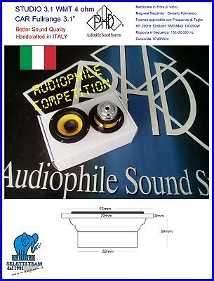 Altoparlanti Speakers PHD STUDIO 3.1 WMT Competition Cp CAR Fullrange Neodimio