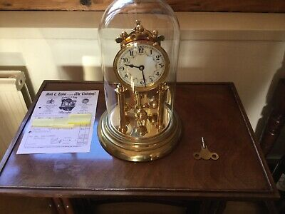 BEAUTIFUL GERMAN ANTIQUE 400 DAY TORSION CLOCK c.1914