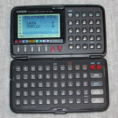 CASIO Digital Diary Vintage Retro Calculator 32KB SF-4100 Working Order