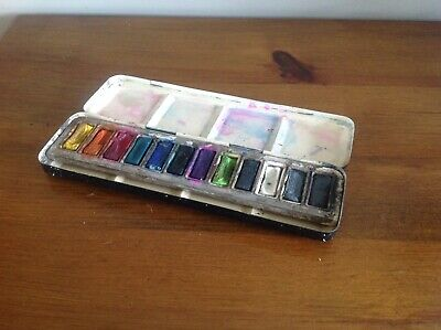 Vintage Japaned Metal Watercolour Paint Box