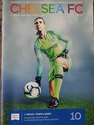 CHELSEA WOMEN v YEOVIL TOWN LADIES 2018/19 Continental Cup Group PROGRAMME