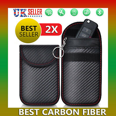 Car Key Signal Blocker Pouch Case FOB Fraday Bag RFID Security Blocking New UK✅✅