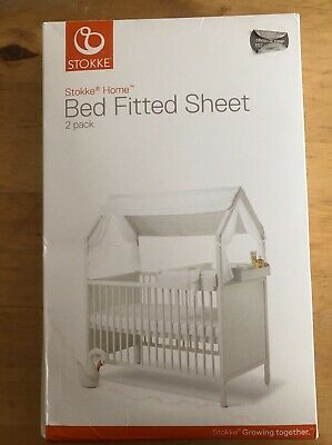 Genuine Stokke Home cot / bed fitted sheet 2 pack -  BNIB
