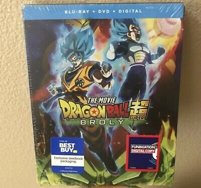 Dragon Ball Super: Broly Steelbook Blu-ray + DVD + Digital Best Buy Exclusive