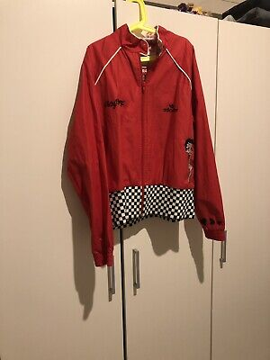 Adidas Jacket Girls Ladies Red Adicolor.