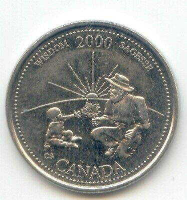 Canada 2000 Canadian Quarter 25c Twenty-Five Cents WISDOM EXACT COIN SHOWN