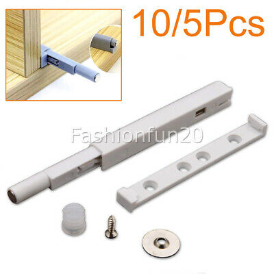 10/5pcs Cabinet Latch Door Cupboard Push To Open System Damper Buffer Catch