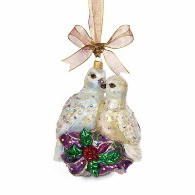 """Jay Strongwater Six Geese Of Laying Christmas Ornament 5/"""" SDH2322-250 NWT"""
