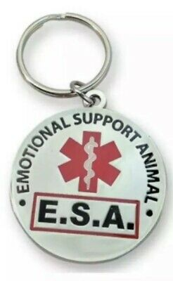 """Official """"Emotional Support Animal"""" ESA Round Hanging ID Tag - (OF)"""