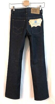 Levis Vintage Jeans 25X28 Saddleman 716 Boot USA Orange Tab Deadstock 80s Denim