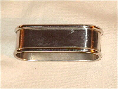 Rogers & Lunt  Sterling Silver Oblong Napkin Ring, hallmarked R & L in boxes.