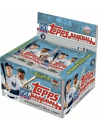 2019 Topps Baseball Series 1 Retail Box 24 Packs Sealed NEW QTY Trout? Guerrero?