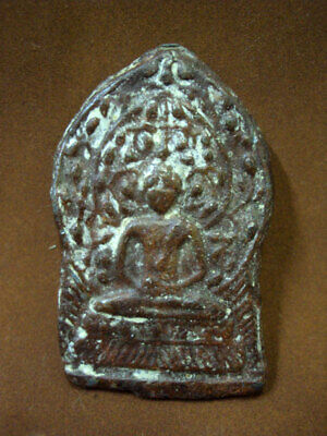 Phra Chiang Saen Ancient Buddha Figure Talisman Old Fetish Thai Amulet Buddhism