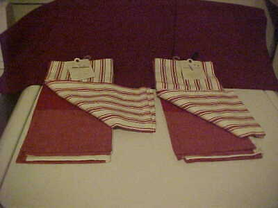 Hearth & Hand With Magnolia Red/White Gingham Striped Plaid Kitchen Towels (4)