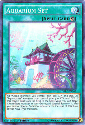 1x - Aquarium Set - DRL2-EN043 - Super Rare - 1st Edition NM YuGiOh!  Dragons of