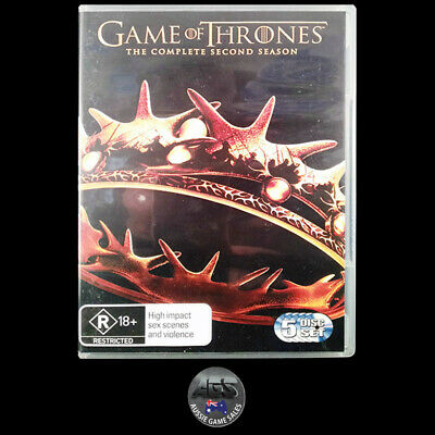 Game of Thrones: The Complete Second Season (DVD) R4 - Action - Drama