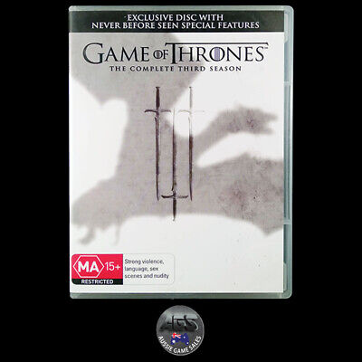 Game of Thrones: The Complete Third Season (DVD) R4 - Action - Drama