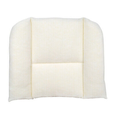 White Sherpa Back Support Posture Pillow Cushion - Lumbar Car Pain Relief Travel