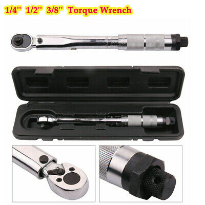 1/4'' 1/2'' 3/8'' Torque Wrench Drive Click Bike Tool Ratchet Wrench Repair Key
