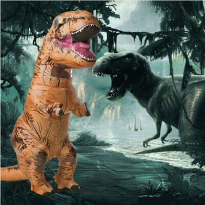 Adults T-REX Inflatable Dinosaur Costume Fancy Dress Jurassic Park Blowup Outfit