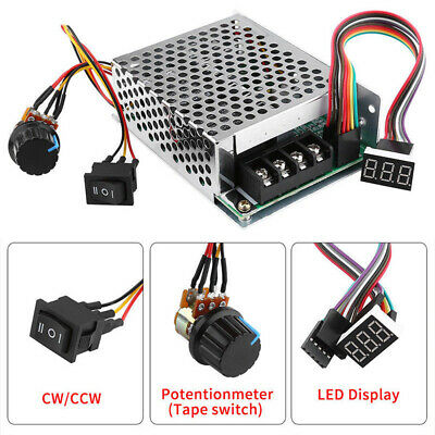 DC 10-55V 60A PWM DC Motor Speed Controller CW CCW Reversible Switch 12/24/48V