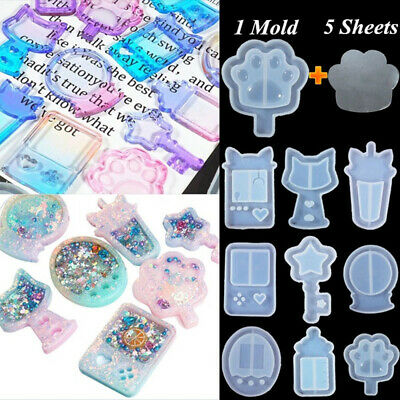 Cartoon Silicone Mold Resin Jewelry Making Mould Epoxy Pendant Craft DIY Tool~