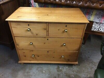 Antique Victorian Stripped Pine Chest Drawers