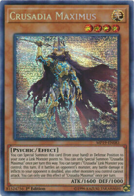 Yugioh Crusadia Maximus Prismatic Secret Rare MP19 1st Ed Mint