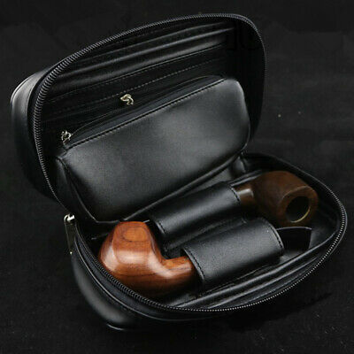 Portable Leather Pipe Case Tobacco Pouch Rolling Paper Bag Cigarette Holder Soft