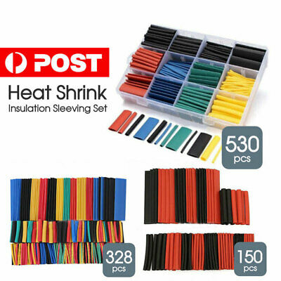 Heat Shrink Tubing Tube Assortment Wire Cable 530Pcs Insulation Sleeving Set AU