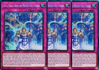 Yugioh Until Noble Arms Are Needed Once Again X3 Prismatic MP19 Mint Playset