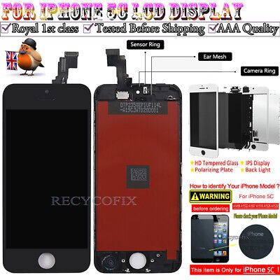 For iPhone 5C Retina LCD Screen Replacement Touch Digitizer Display Black