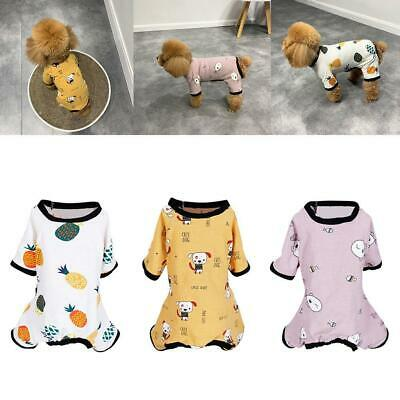 Embroidery Cat Dog Pajamas Soft Cotton Pet Clothes Apparel Puppy Jumpsuit Supply